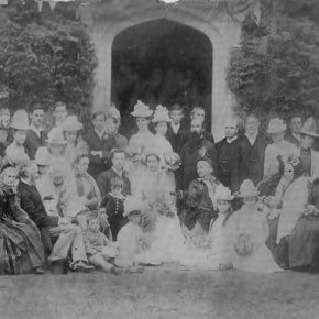 03 1855   Sir Thomas Fowell Buxton 3rd In Front At His Son Victors Wedding In 1855